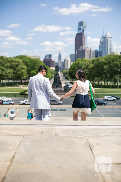 philadelphia art museum surprise engagement proposal 14