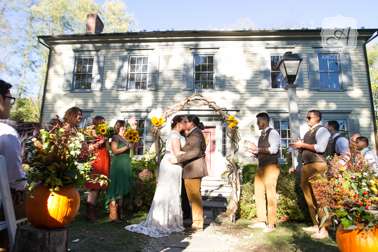 inn at millrace pond autumn rustic wedding 23